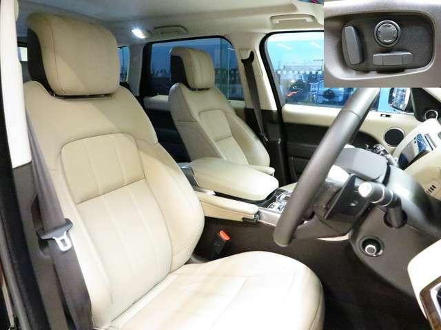 アーモンドレザーシート。高級感漂うインテリアはブラックで統一されており、上品にまとまってます。また運転席も綺麗な状態で入庫しております。