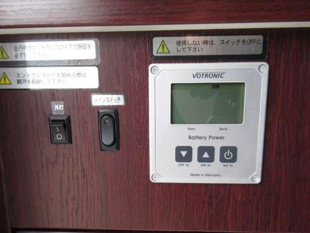 ボトロニックの電圧計も装備しております!追加架装もお任せ下さい♪