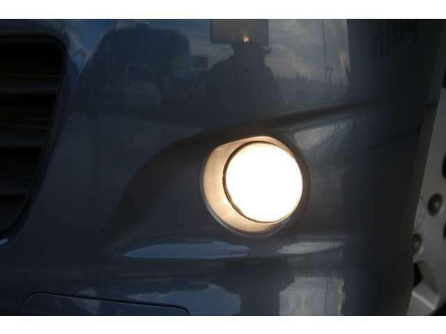 【フォグランプ】雪の日や、霧が濃い時に点灯させると、視界が良くなります。