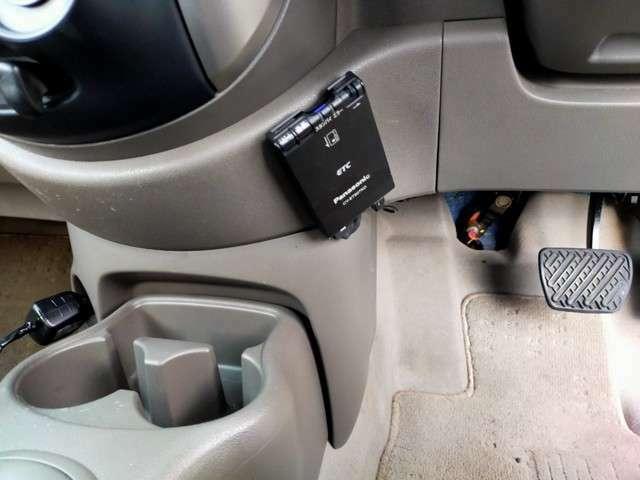 今や必需品のETCも搭載済みです。高速道路も楽々乗れます。ETCを使って賢くお得にドライブを楽しめます。