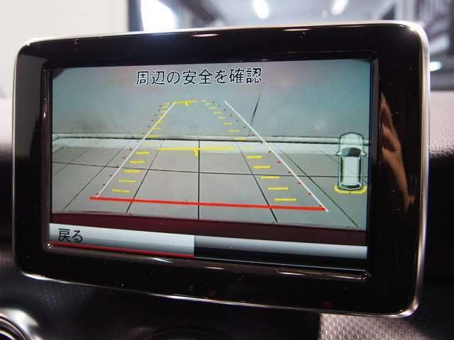 パークトロニックセンサーと舵角センサー付きの純正バックカメラは非常に使い勝手が良く、駐車も安心して行う事が出来ます。