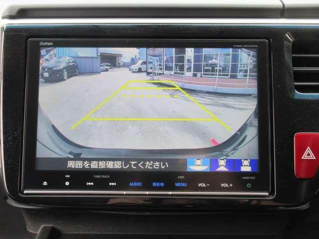 純正ギャザーズSDナビ付き♪ ガイド線付バックカメラで駐車も安心ですね♪ 広角のカメラを使用しております♪