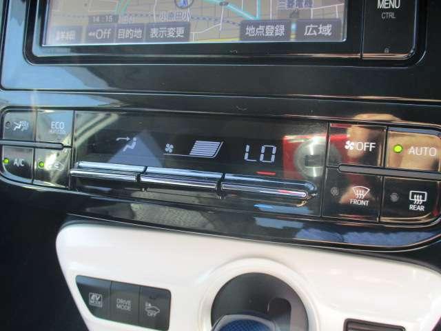 一つ上いく装備のオートエアコンです。クーラーもしっかり効いてますよ♪