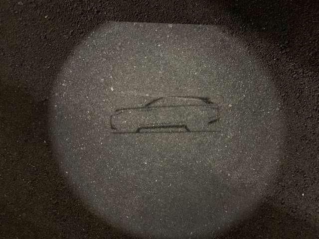 夜間に鍵を開けると、地面にレンジローバーのロゴが表示されます。