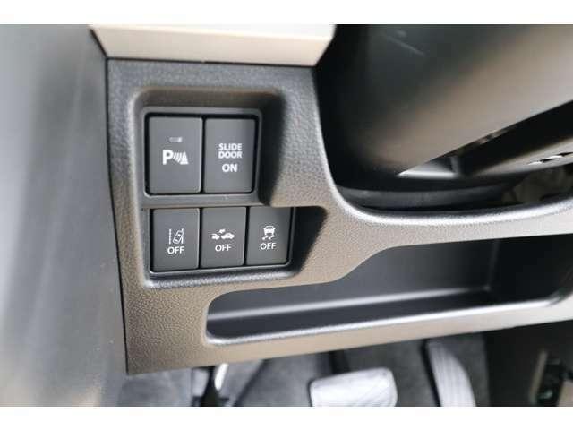車線逸脱警報、ふらつき警報機能先行車お知らせ機能、ハイビームアシストなどスズキセーフティサポートが搭載