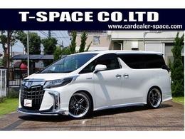 トヨタ アルファード ハイブリッド 2.5 エグゼクティブ ラウンジ S 4WD MODELLISTAエアロ21AW車高調2ナビ2MR白本革
