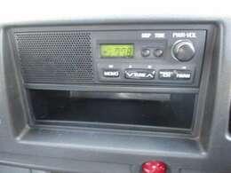 AM/FMチューナー装備。