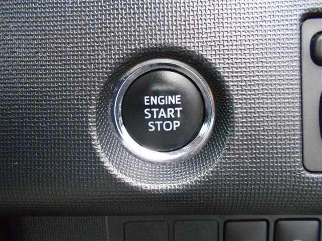 プッシュスタートシステム付いています!エンジンのON、OFFがボタンで操作です!