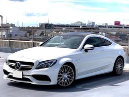 メルセデスAMG Cクラスクーペ C63 黒&白レザー ブルメスター SR 新車保証