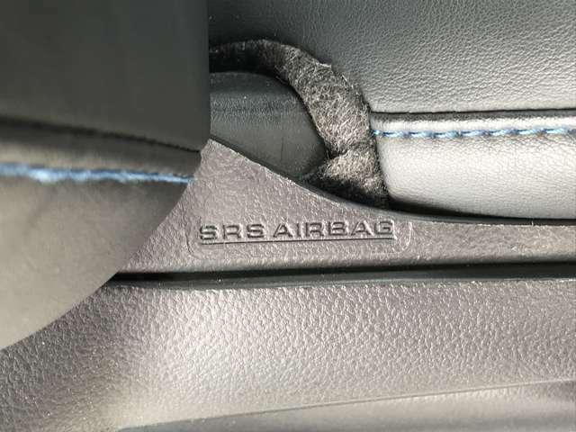 「サイドエアバッグ」 運転席と助手席に乗っている方を守るサイドエアバッグ付き♪