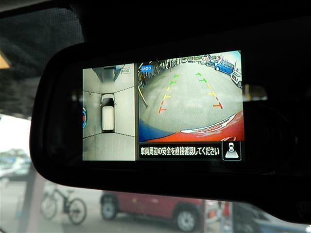 アラウンドビューモニター搭載!全方位を映しあたかも上から見ているような視点を作ってくれ、車庫入れが苦手な方でもきれいに入れられます!