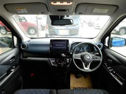 視界の良いフロントビュー!オーディオやスイッチ類も操作しやすく総合的にとても使いやすい車です!