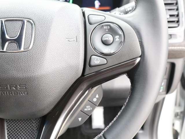 ACC『アダプティブクルーズコントロール』予め設定した車速内でクルマが自動的に加減速。前走車との適切な車間距離を維持しながら追従走行し、ドライバーの運転負荷を軽減します。