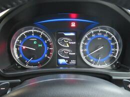 走行距離をご確認ください。メーター中央のモニターには、様々な情報を映し出すことができます。