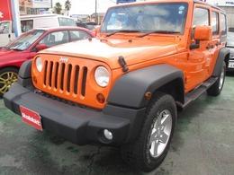 ジープ ラングラー アンリミテッド オレンジ 4WD 社外ナビ Bカメラ 地デジTV ETC