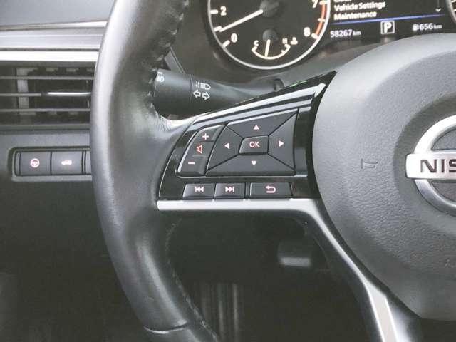 ステアリングスイッチでオーディオコントロールができます。