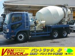 三菱ふそう ファイター 3軸 ベッド ミキサー車 カヤバ 8.9立米 電動ホッパーカバー 水タンク