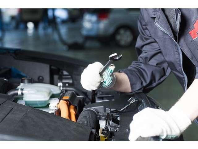 Aプラン画像:ご納車前整備時、バッテリー、Vベルト交換の実施プランとなります。