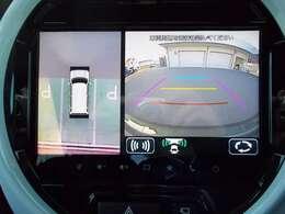 フロントグリル、ドアミラー、バックドアにカメラが付いています☆駐車の時にナビ画面で自車位置を確認出来て、あれ?車はどの位置?障害物はないかな?など確認ができて安心ですよ☆