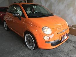 フィアット 500(チンクエチェント) 1.2 ポップ ゴアオレンジ純正15インチBTオーディオ