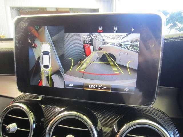 360°カメラで駐車も安心です。