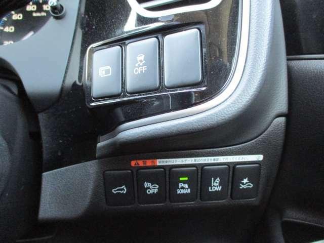 横滑り防止機能 マルチインフォメーション 衝突被害軽減ブレーキ/前後誤発進抑制機能 車線逸脱警報システム パーキングセンサー 車両接近通報装置 電動テールゲート