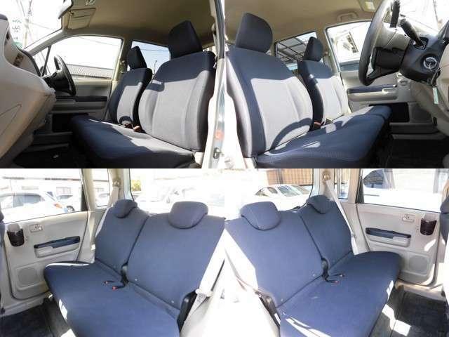 フロントシート・リアシートともに広々座れるベンチタイプを採用。ゆったりと体を預けられるのでロングドライブでの疲れも軽減してくれます!シート表面も汚れ・破れなくキレイな状態をキープ!