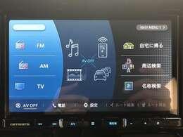 カロッツェリア8型ナビゲーション。地デジフルセグTV、DVD再生、音楽録音、Bluetooth搭載。