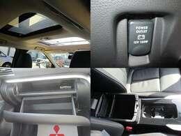 電動パノラマサンルーフ 前席上のガラスは室外にスライドするため室内空間を損ないません。フロントとリヤにシェードを装備しています。ーフ付きです!