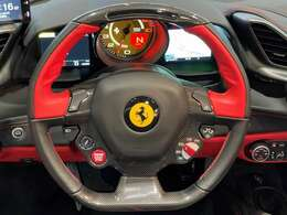 """insulating windscreen     High emotion low emission   Scuderia Ferrari shelds   Parking camera   Front ando rear parking sensors   Yellow rev counter20""""forged diamond wheels"""