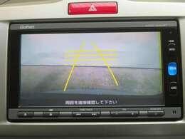 後方確認はオマカセのリアカメラ付。ガイド線は再セットいたします。 車庫入れもラクラクですね。