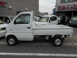 サイドの画像です。大きな凹み、擦り傷などもなくキレイですよ! 愛知 大治 格安 軽四 軽自動車 安い お買い得 中古車 保証付 ジーフリー G-FREE