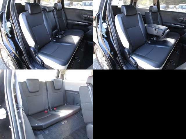 セカンド&サードシート セカンドシートにはセンターアームレスト付です。 サードシートは左右分割可倒式で、格納出来ます。