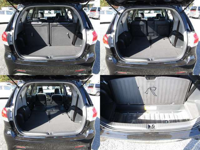 ラゲッジルーム セカンド&サードシートを可倒&格納すれば、フラットで大きなスペースを確保出来ます。