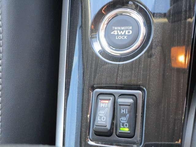 運転席・助手席にはHI/LO切り替え式シートヒーターが付いております。寒い日もぬくぬくです。
