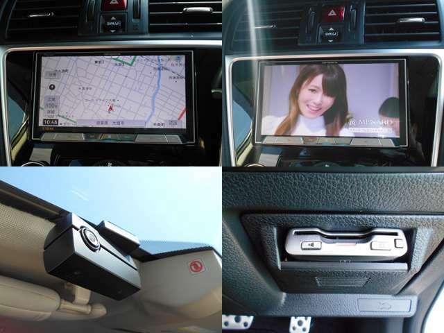 カロッツェリア製サイバーナビ付き!!充実のナビ機能はもちろん高画質な『フルセグTV』や『Bluetoothオーディオ』など充実機能!!高速ラクラクETC!!もしもの時にアイサイト適合『純正ドライブレコーダー』