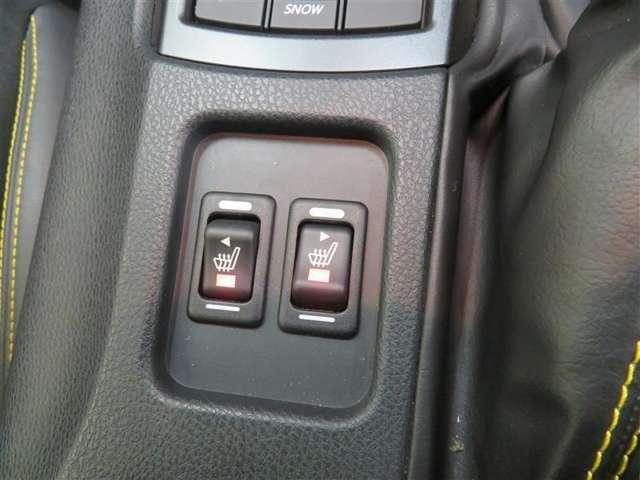 寒い時期のドライブも快適なシートヒーター。
