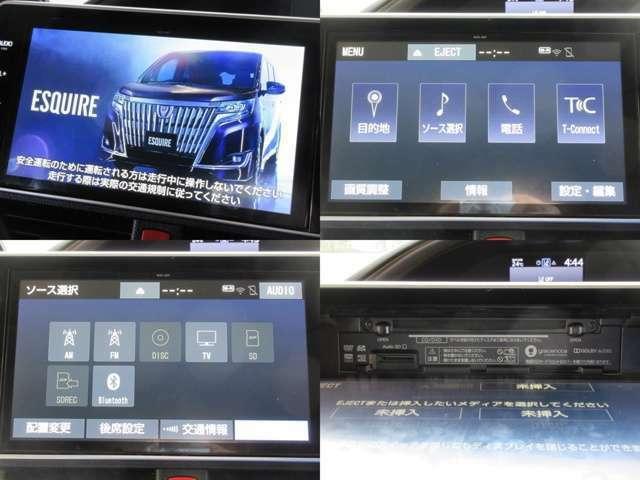 お出掛けに嬉しい、純正10型SDナビ(フルセグ地デジTV)付きです♪DVDビデオ再生機能・音楽録音機能Bluetooth接続機能も装備しております♪