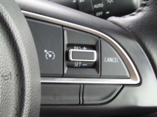 【クルーズコントロール】車のスピードを自動的に一定に保つ機能。疲労軽減や艇燃費走行の実現が可能です。
