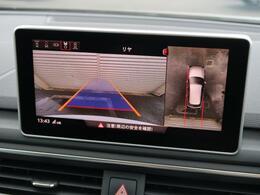 【サラウンドビューカメラ】4台の広角カメラで自車の全周囲360度を捉え、様々な角度からの映像を映し出すことで、駐車時の操作をより簡単に行えます。