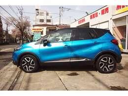 とても綺麗なブルーメタリックのお車です!