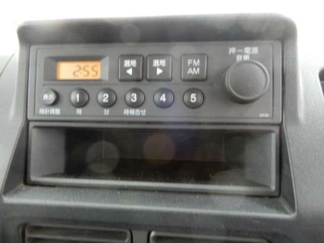 AM FMラジオを装備してます