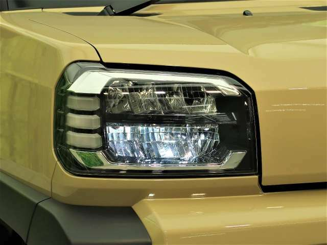 【LEDヘッドライト】最新のLEDヘッドライト!!従来のハロゲンライトに比べて、明るさが違います。