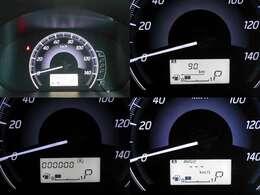 メーターはシンプルながら燃費計も備わっています☆