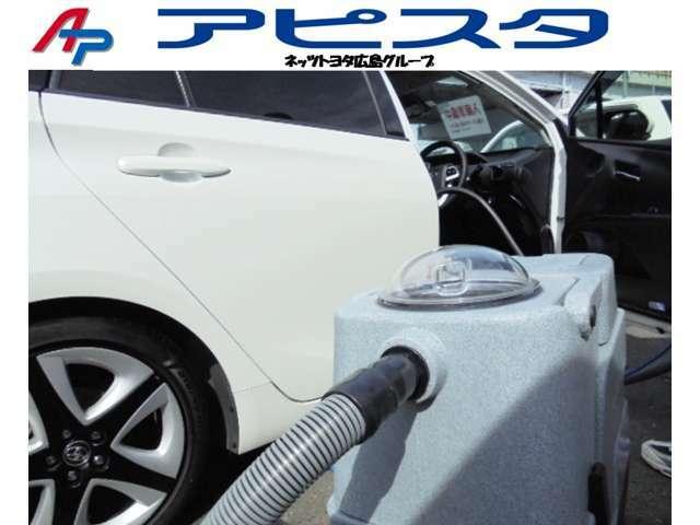 車内内装クリーニング専用の温水スチーム洗浄機を活用しております。臭い・汚れを除去し、細かく隅々まで丁寧に仕上げ、抗菌処理を行います。