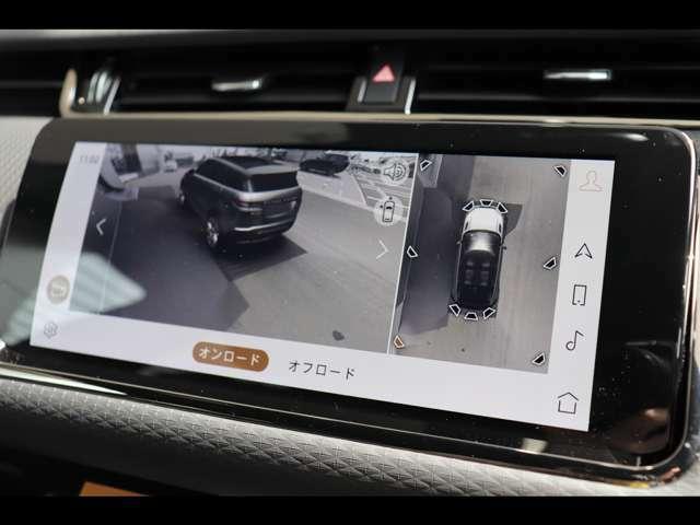 新インフォテイメントシステムPivi Proより搭載された3Dサラウンドカメラシステム。車輌周囲の道路状況や建物を視覚的に合成し映し出します。