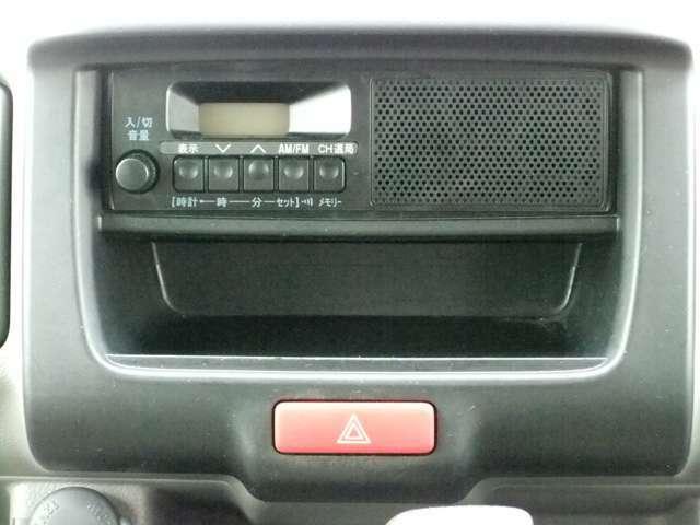 純正のAM・FMラジオが装備。