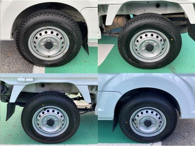 タイヤは現在スタッドレスタイヤが装着されています、これからのシーズンには丁度いいですね