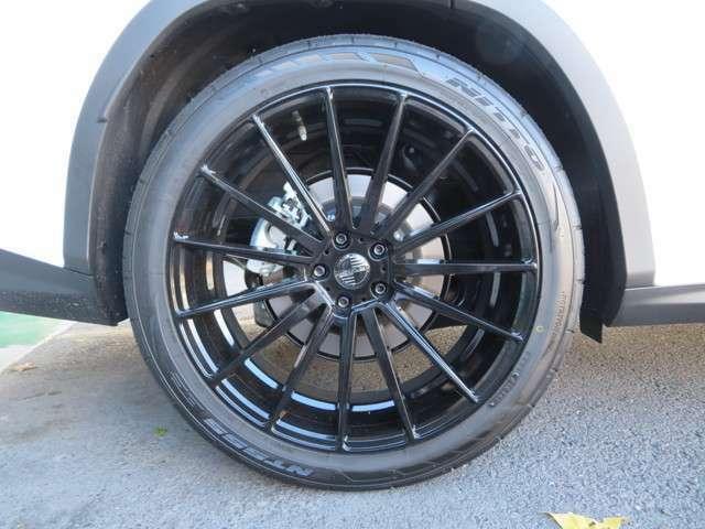 社外 22インチホイル新品 国産タイヤ新品 RSRダウンサス