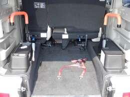 車いす用手すり(左右)握りやすく、視認性の良いオレンジ色です。